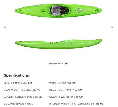 dagger green boat